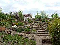The Rock Garden at Oliver Ford Gardens, Durham, North East England